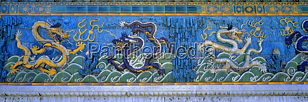 asia china beijing colorful fanciful dragons