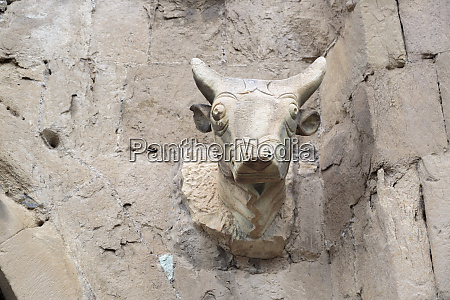 georgia mtskheta a bull head carved