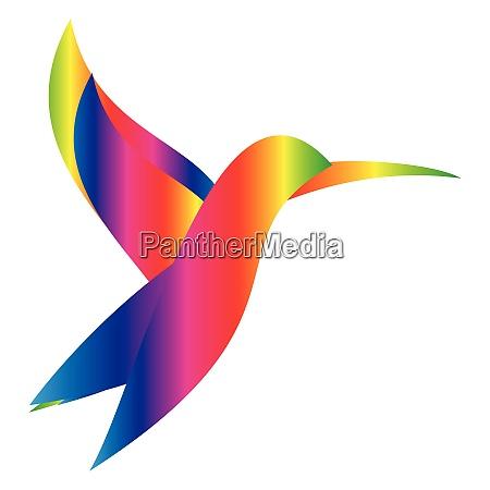 colored hummingbird hummingbird animal bird logo
