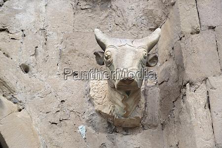 georgia, , mtskheta., a, bull, head, carved - 27736014