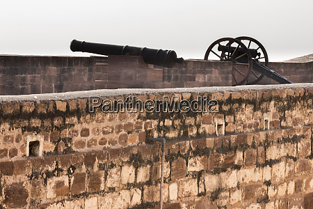 canon at mehrangarh fort jodhpur rajasthan