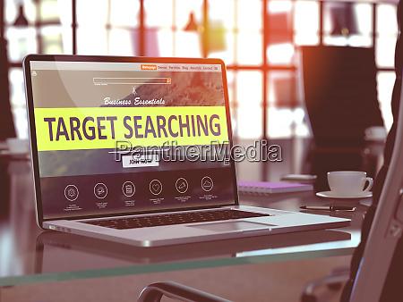 target searching on laptop in modern