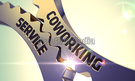 coworking service concept golden cog gears