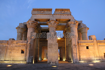 egypt kom ombo sunset at the