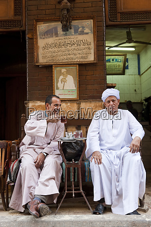 egyptian men drinking tea khan al