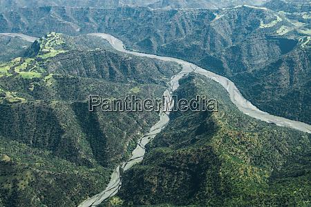 africa ethiopian highlands western amhara aerial