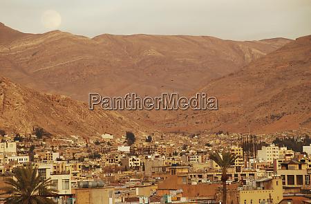 iran shiraz giant moonrise of dry