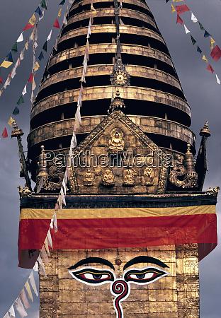 asia nepal kathmandu valley swayambunath stupa