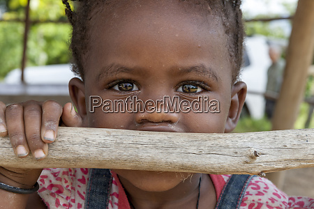 young girl curious outside of the
