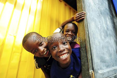 cote divoire abidjan black children smiling