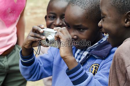 kenya nairobi children learning to take