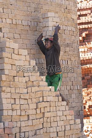 africa madagascar antananarivo province brick making