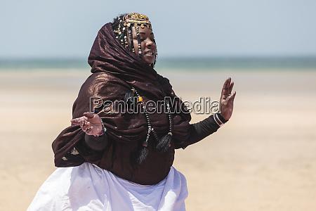 africa western sahara dakhla woman in