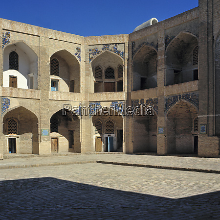 uzbekistan bukhara tiered stone arches look