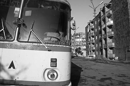 armenia alaverdi view of a bus
