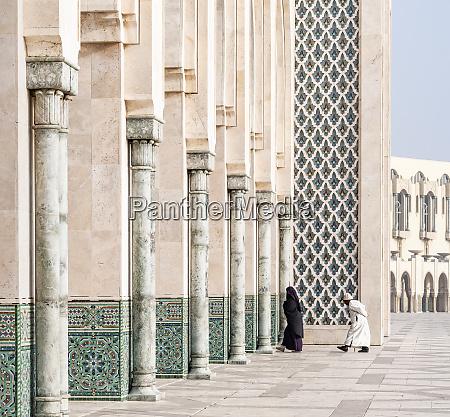 africa morocco casablanca persons entering mosque