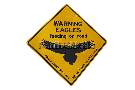 eagle warning sign australia