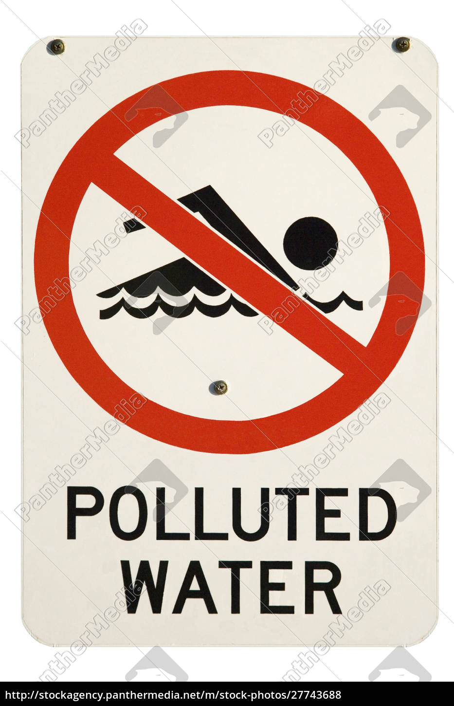 polluted, water, sign, , australia - 27743688