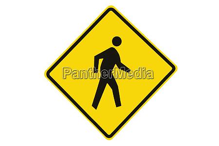 pedestrian warning sign new zealand