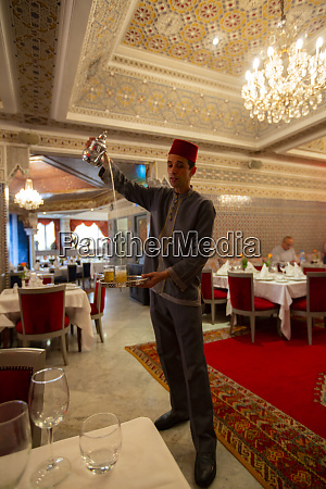 casablanca morocco pouring moroccan tea