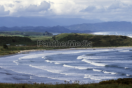oceania new zealand south island coastline