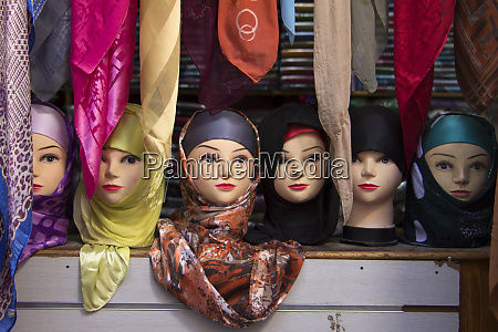 morocco fes moroccan head scarves on
