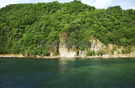 dominica roseau blue turquoise water south