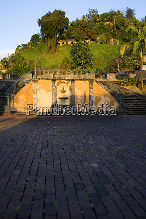 martinique french antilles west indies ruins