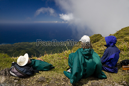 martinique french antilles west indies hikers