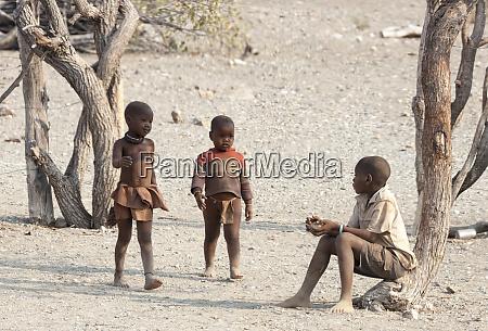 africa namibia opuwo three himba boys
