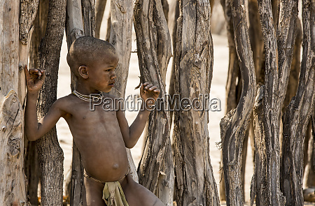 africa namibia opuwo himba boy against