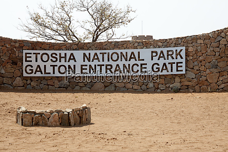 africa namibia etosha national park sign