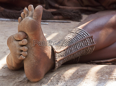 africa namibia opuwo himba womans feet