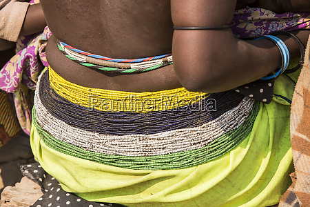 africa namibia opuwo beaded detail of