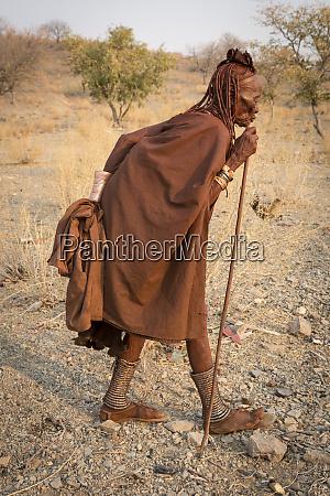 africa namibia opuwo elderly himba woman
