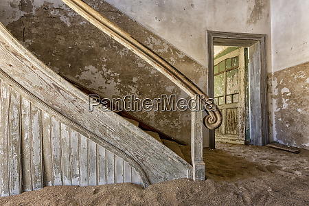 africa namibia kolmanskop banister and door