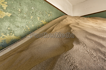 africa namibia kolmanskop sperrgebeit sand filled