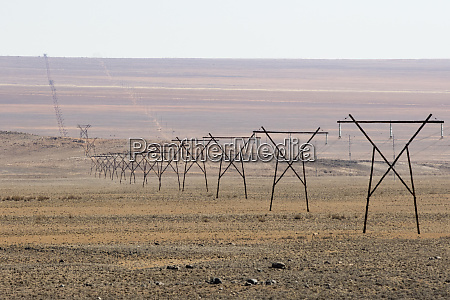 africa namibia aus powerlines stretching across