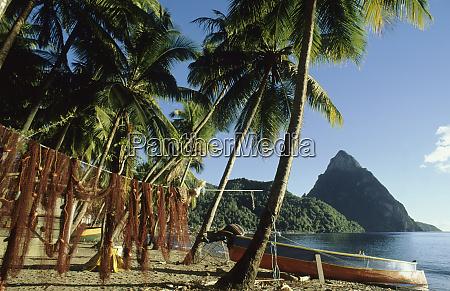 caribbean st lucia soufriere town les
