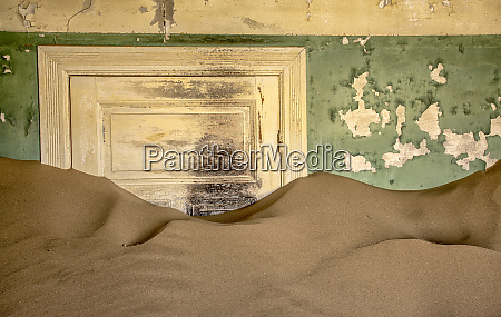 africa namibia kolmanskop sand in abandoned