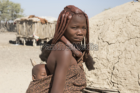 africa namibia opuwo himba mother and
