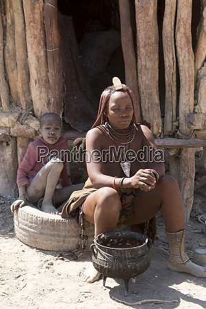 africa namibia opuwo himba woman and
