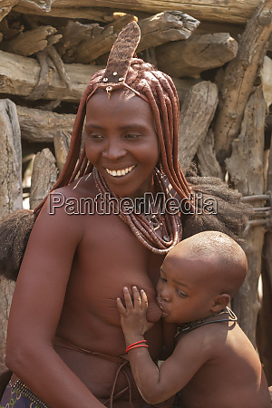 africa namibia a himba woman with