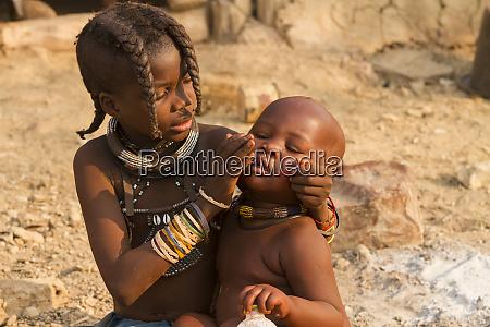 africa namibia a young himba girl