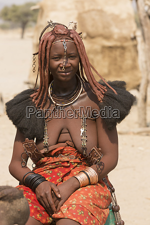 namibia native himba woman poses in
