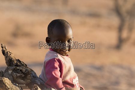 africa, , namibia, , damaraland., portrait, of, young - 27745515