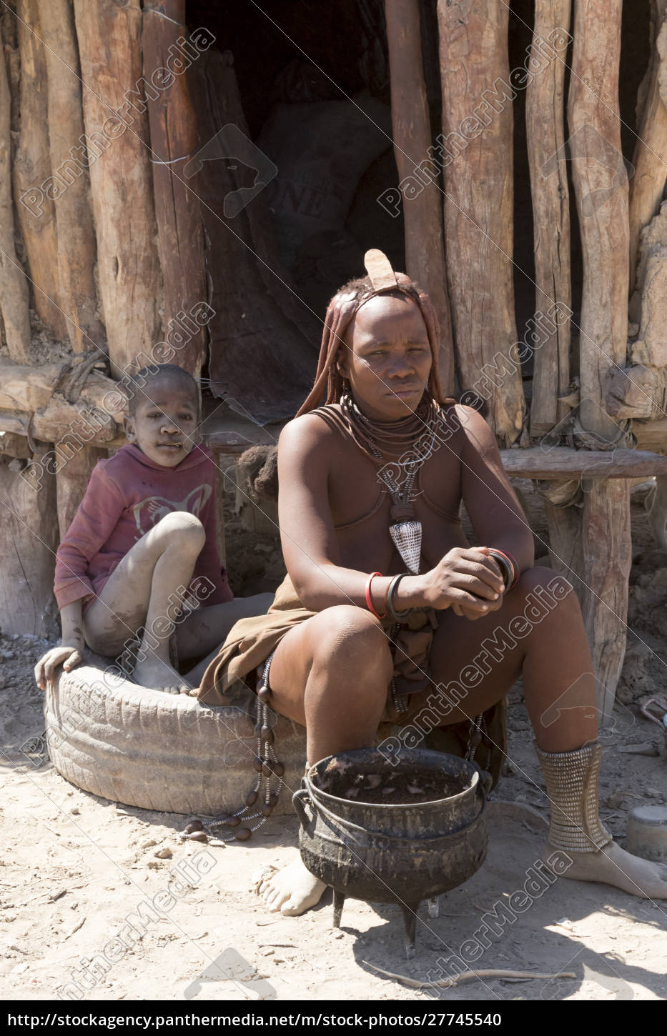 africa, , namibia, , opuwo., himba, woman, and - 27745540