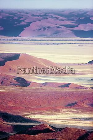namibian desert aerial view of sand