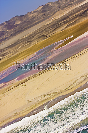 skeleton coast namibia areal view of
