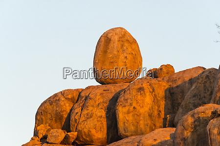 rocks on a granite hill damaraland